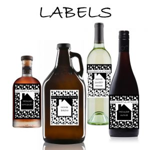 Housewarming Bottle Labels